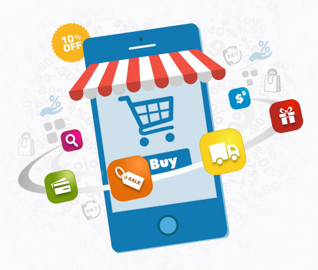 Mcommerce native and hybrid app development ios android for E commerce mobili