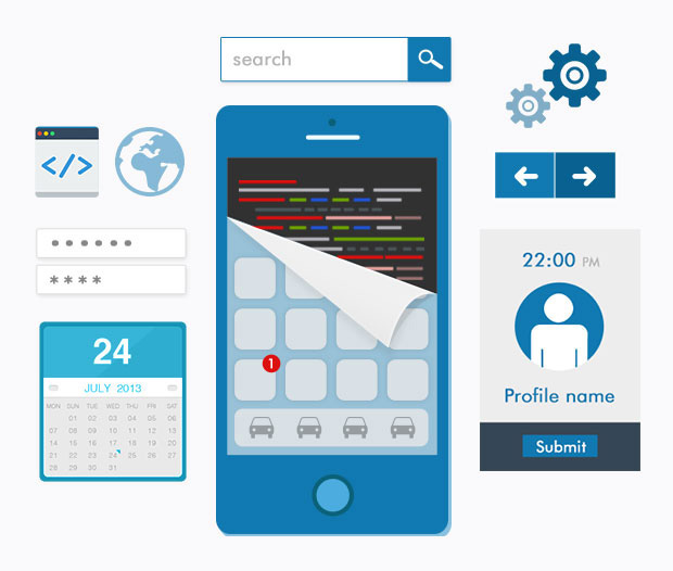 Mobile app UI and UX design services